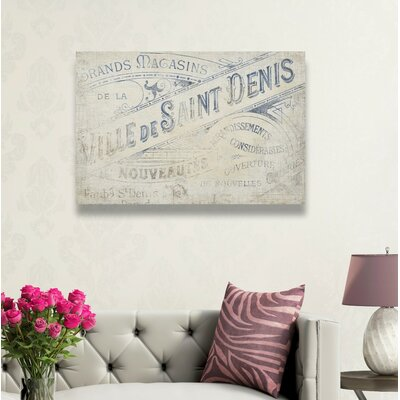 'Ville De Saint Denis' Graphic Art on Wrapped Canvas