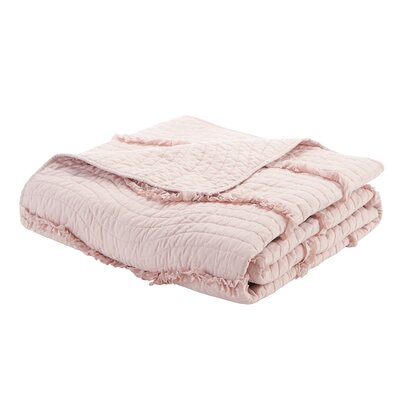 Delphine Oversized Quilted Throw Color: Pink