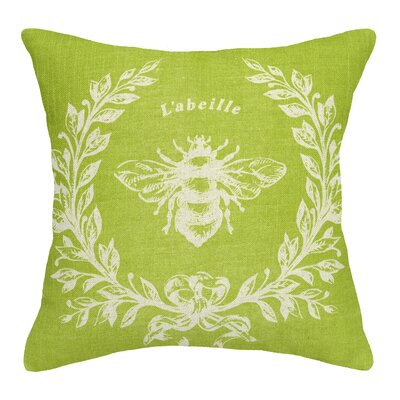 Clematite Linen Bee Throw Pillow