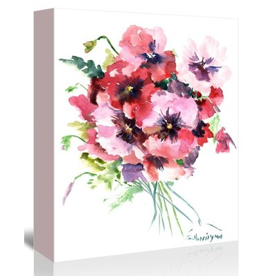 Pansies Painting Print on Gallery Wrapped Canvas Size: 20