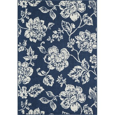 Kofi Blue Indoor/Outdoor Area Rug Rug Size: Rectangle 53 x 76