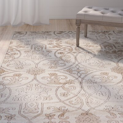 Mathieu Dark Beige/Brown Area Rug Rug Size: Rectangle 5 x 8