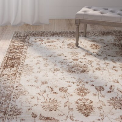 Mathieu Cream/Beige/Brown Area Rug Rug Size: Rectangle 7 x 10