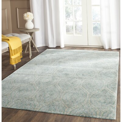 Longeville Bright Alpine/Cream Area Rug Rug Size: Rectangle 4 x 6