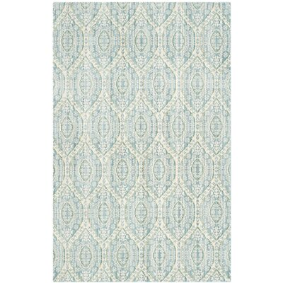 Longeville Bright Alpine/Cream Area Rug Rug Size: 5 x 8