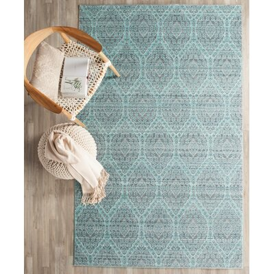 Longeville Gray/Baby Blue Area Rug Rug Size: 4 x 6
