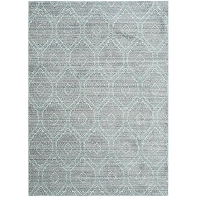 Longeville Gray/Baby Blue Area Rug Rug Size: Rectangle 5 x 8