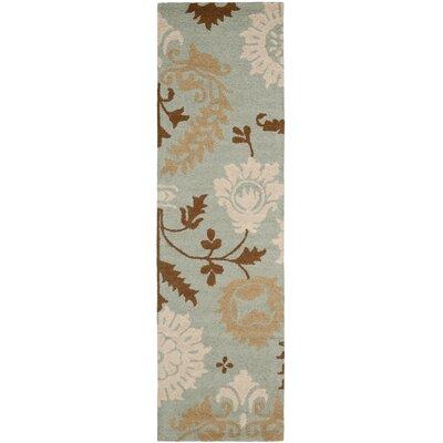 Ela Blue Floral Area Rug Rug Size: Runner 23 x 8