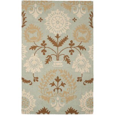 Ela Blue Floral Area Rug Rug Size: Rectangle 4 x 6
