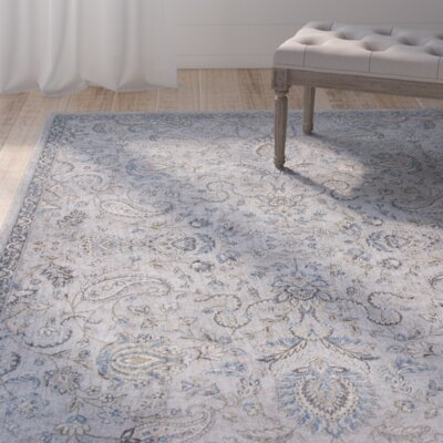 Benoit Silver/Blue Area Rug Rug Size: Runner 22 x 611