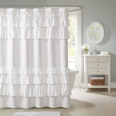 Lorimier Microfiber Shower Curtain Color: White