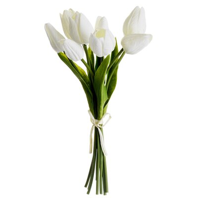 Soft Touch Tulip Bundle Flower Color: White