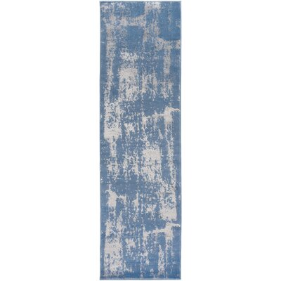 Kavia Blue/Gray Area Rug Rug Size: Runner 23 x 71