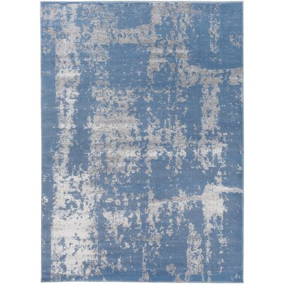 Kavia Blue/Gray Area Rug Rug Size: 53 x 73