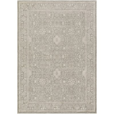 Riviere Gray/Ivory Area Rug Rug Size: Rectangle 52 x 76