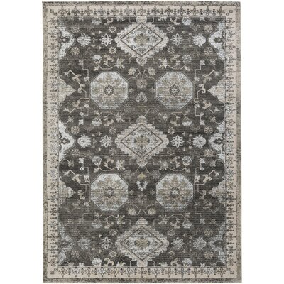 Riviere Gray/Ivory Area Rug Rug Size: 710 x 106