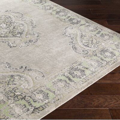 Riviere Grey & Silver Area Rug Rug Size: Rectangle 22 x 3