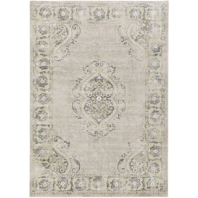 Riviere Grey & Silver Area Rug Rug Size: Rectangle 710 x 106