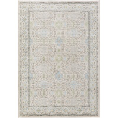 Riviere Gray/Green Area Rug Rug Size: 710 x 106