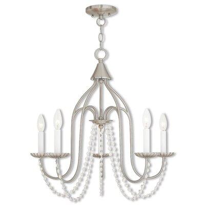 Florentina 5-Light Candle-Style Chandelier Finish: Brushed Nickel