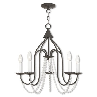 Florentina 5-Light Candle-Style Chandelier Finish: English Bronze
