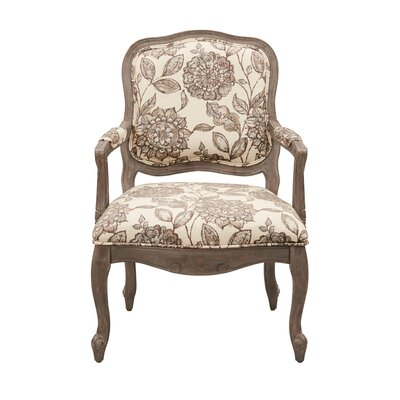 Braden Camel Back Exposed Wood Armchair