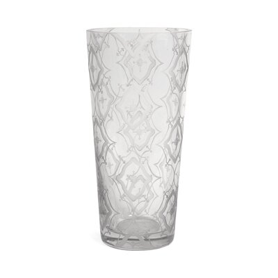"Cylinder Clear Glass Etched Vase Size: 13.75"" H x 6.5"" W x 6.5"" D OPCO2374 39829360"