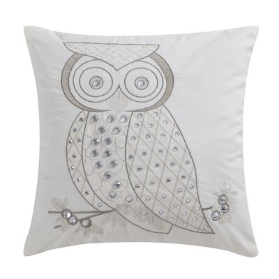 Bannoncourt Owl Jeweled Decorative Throw Pillow