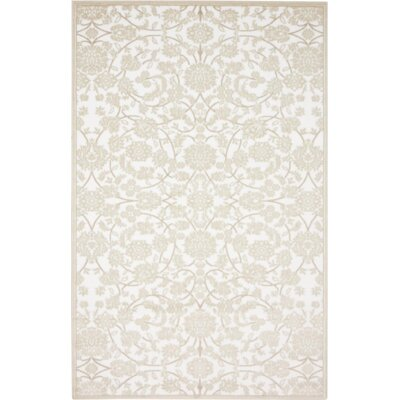 Matis Snow White/Beige Area Rug Rug Size: Rectangle 5 x 8