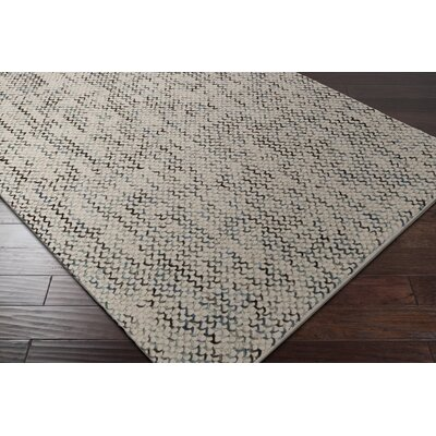 Nicolle Hand-Woven Beige/Gray Area Rug Rug Size: Rectangle 2 x 3