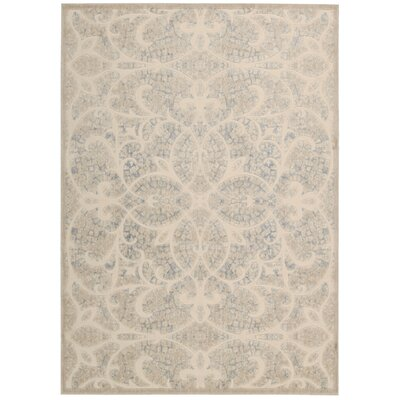 Bacourt Beige/Sand Area Rug Rug Size: Rectangle 23 x 39