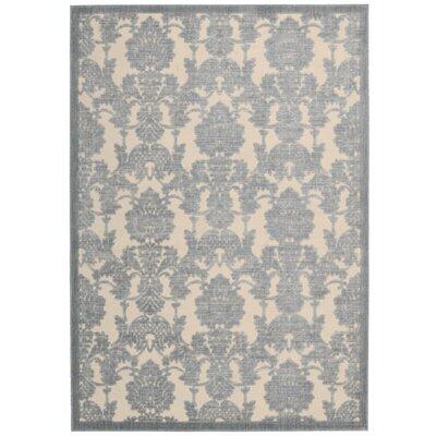 Bacourt Ivory/Light Blue Area Rug Rug Size: 23 x 39
