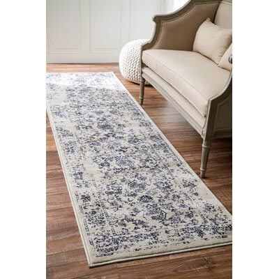 Aspremont Blue Area Rug Rug Size: Runner 2'5