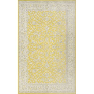 Narbonne Yellow Indoor/Outdoor Area Rug Rug Size: 5 x 76