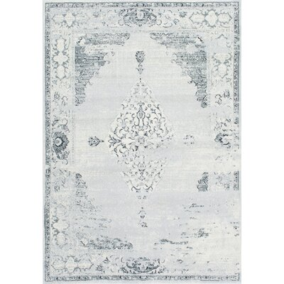 Allemans Gray Area Rug Rug Size: Rectangle 10 x 14