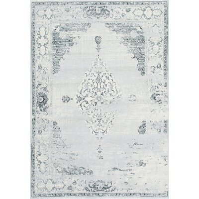 Allemans Gray Area Rug Rug Size: 710 x 11