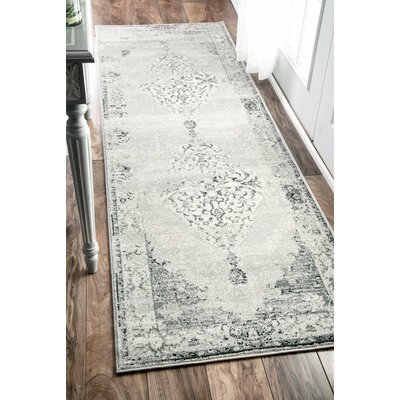 Allemans Gray Area Rug Rug Size: Runner 26 x 12