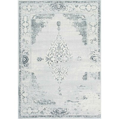 Allemans Gray Area Rug Rug Size: 67 x 9