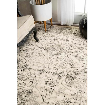 Dions Gray Area Rug Rug Size: Rectangle 6 7 x 9
