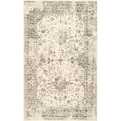Dions Gray Area Rug Rug Size: 7'6