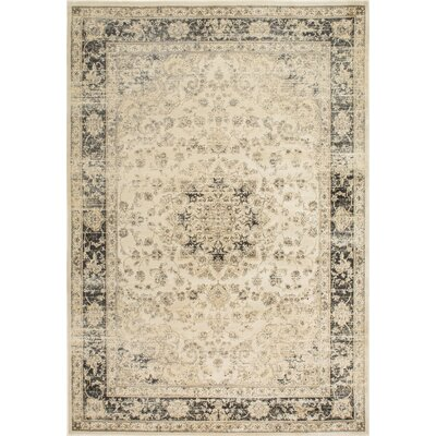 Guerin Ivory Area Rug Rug Size: 4 x 6