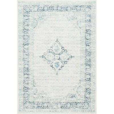 Giverny Light Blue Area Rug Rug Size: 67 x 9