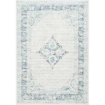 Giverny Light Blue Area Rug Rug Size: 5 x 75