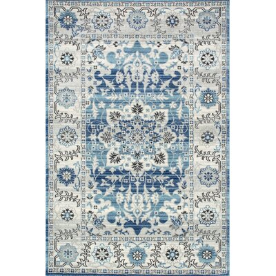 Alfon Blue Area Rug Rug Size: Rectangle 9 x 12