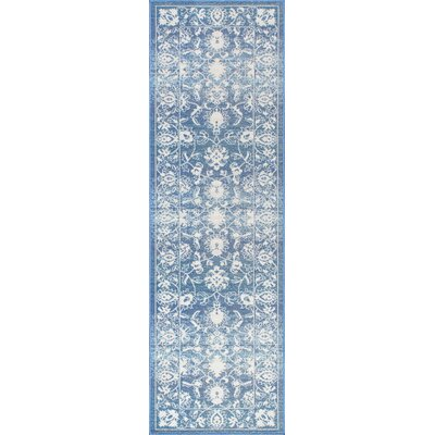 Nanteuil Blue Indoor/Outdoor Area Rug Rug Size: Runner 2 x 76
