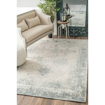 Chartres Hand-Woven Blue Area Rug Rug Size: Rectangle 76 x 96