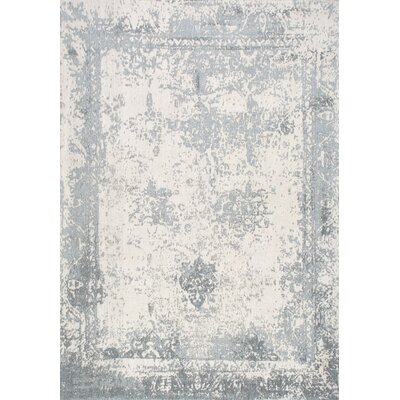 Chartres Hand-Woven Blue Area Rug Rug Size: 76 x 96