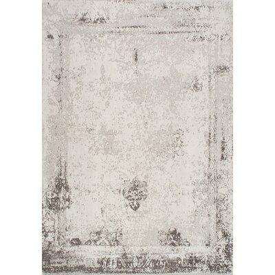 Chartres Hand-Woven Ivory Area Rug Rug Size: Rectangle 76 x 96