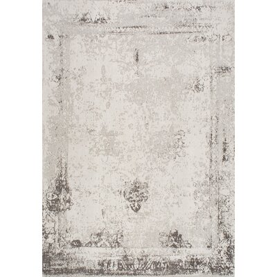 Chartres Hand-Woven Ivory Area Rug Rug Size: 76 x 96