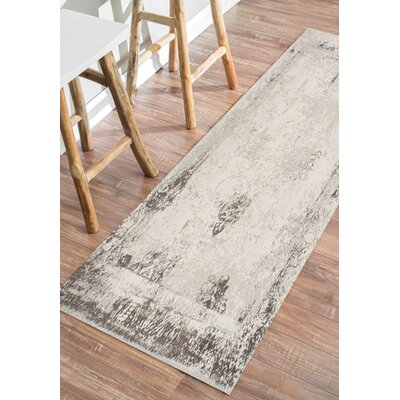 Chartres Hand-Woven Ivory Area Rug Rug Size: Runner 26 x 12